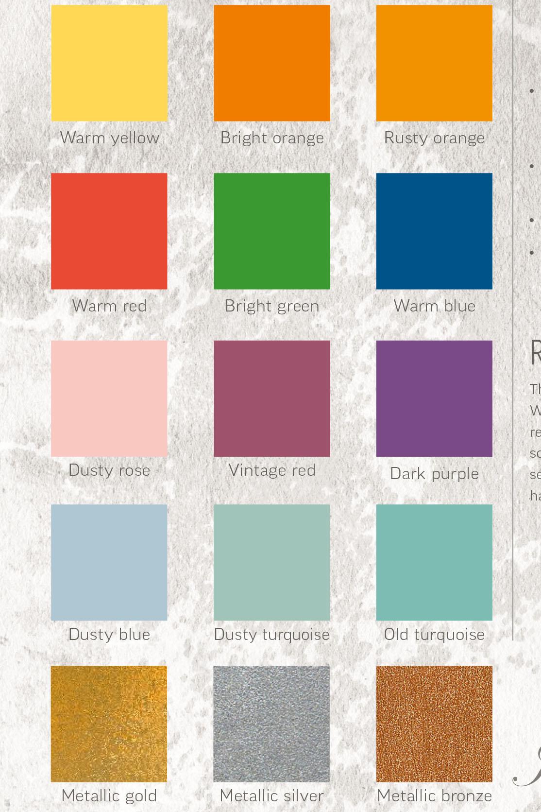 Catalogo Colori Per Pareti cartella colori vintage paint