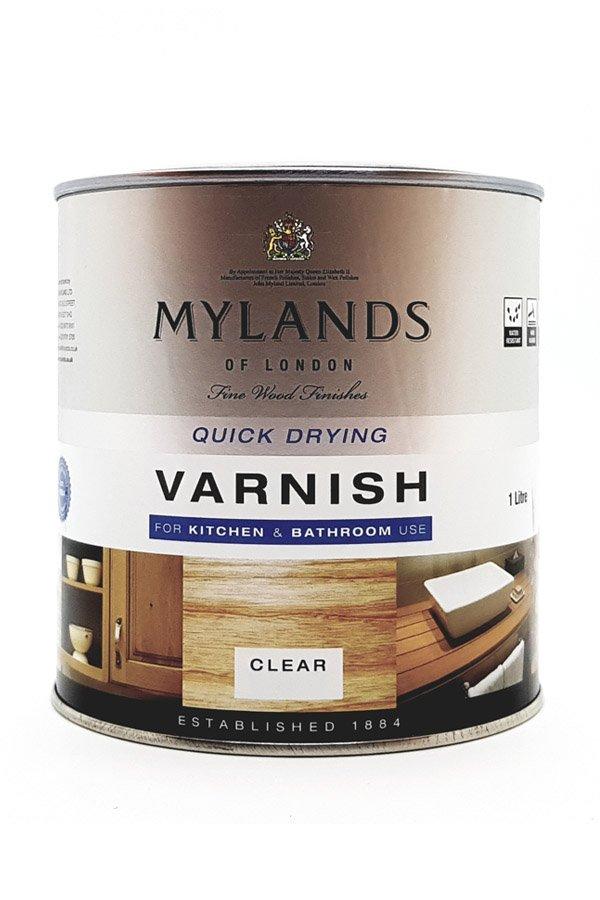 Mylands varnish matt bagno e cucina smalto trasparente per legno interni interior design fai for Smalto per vasche da bagno
